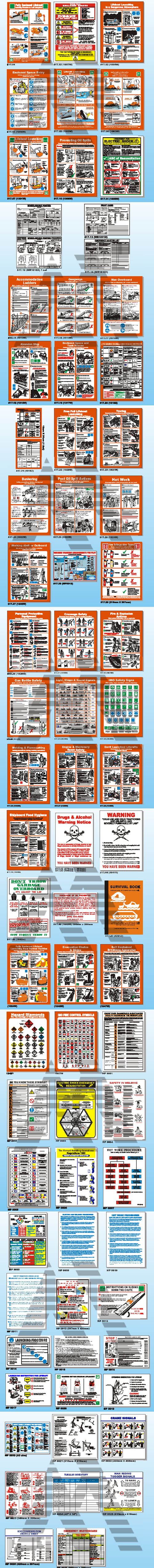 Marine & Safety Posters